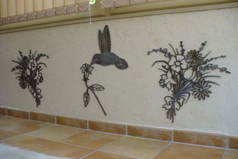 Forge de vulcain d coration en fer forg nos for Decoration murale pour jardin