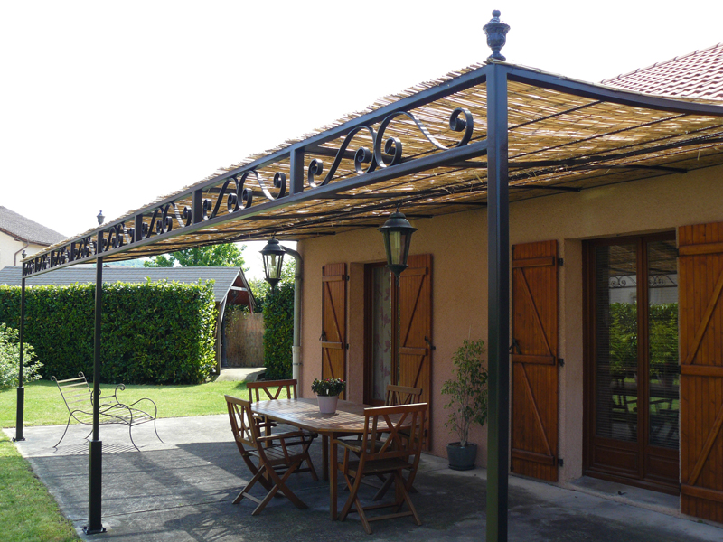 forge de vulcain pergola en fer forg nos r alisations de pergola en fer forg. Black Bedroom Furniture Sets. Home Design Ideas
