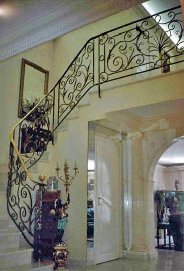 forge de vulcain rampe d 39 escalier en fer forg nos r alisations de rampe d 39 escalier en fer forg. Black Bedroom Furniture Sets. Home Design Ideas